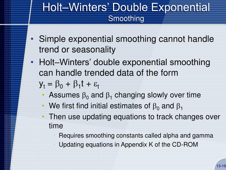 Holt–Winters' Double Exponential