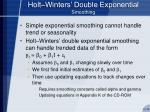 holt winters double exponential smoothing
