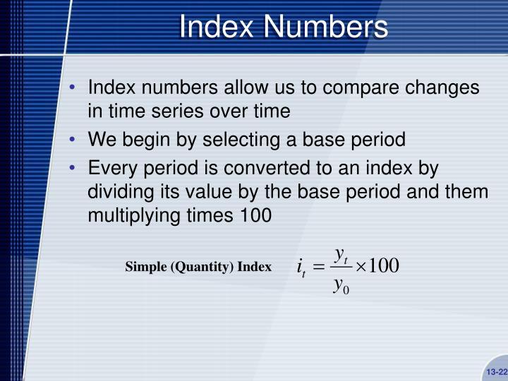 Index Numbers