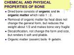 chemical and physical properties of bone