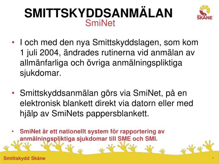 SMITTSKYDDSANMLAN