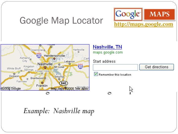 Google Map Locator