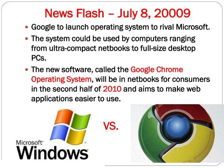 News Flash – July 8, 20009