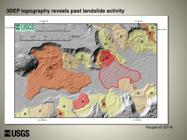 3DEP topography reveals past landslide activity