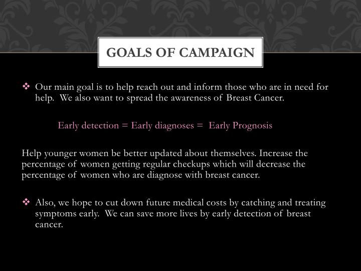 Goals of Campaign