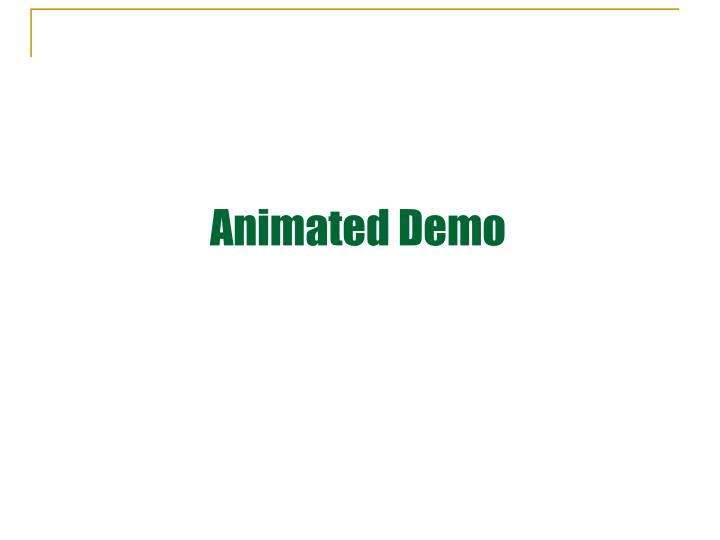Animated Demo