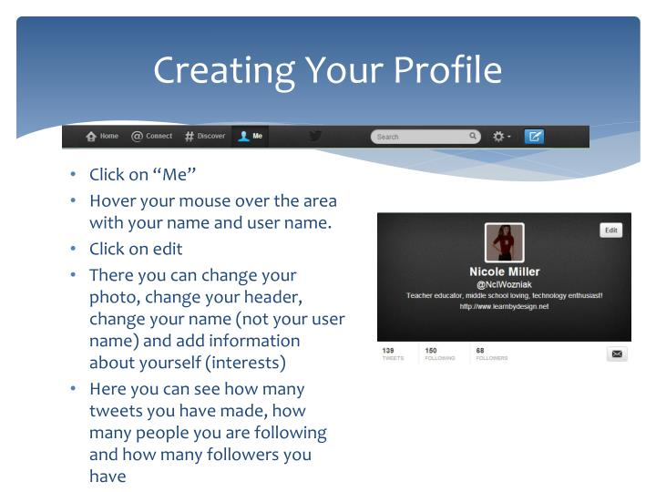 Creating Your Profile