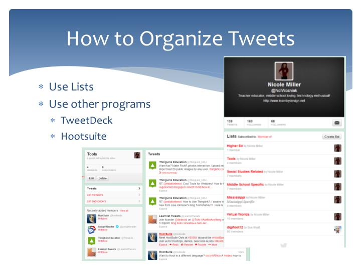 How to Organize Tweets