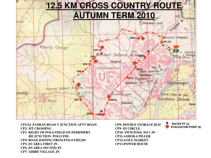 12.5 KM CROSS COUNTRY ROUTE