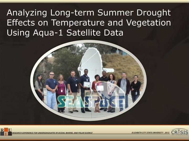 Analyzing Long-term Summer Drought Effects on Temperature