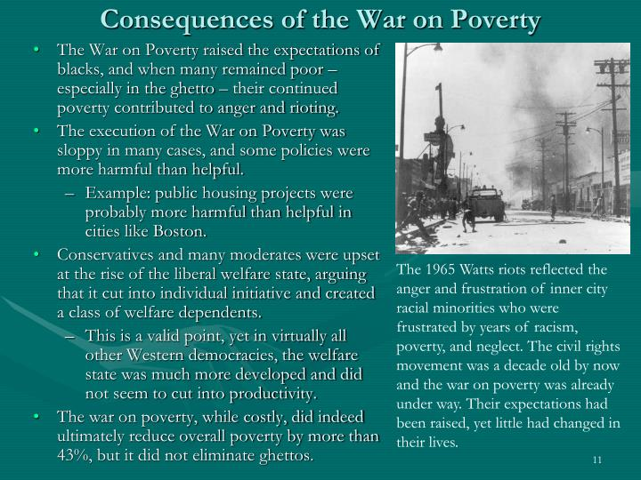 Consequences of the War on Poverty