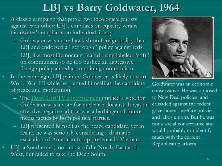LBJ vs Barry Goldwater, 1964
