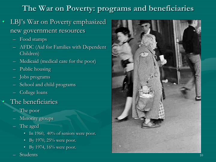 The War on Poverty: programs and beneficiaries