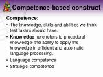 competence based construct