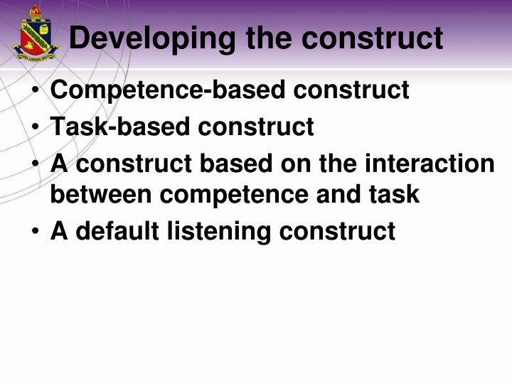 Competence-based construct