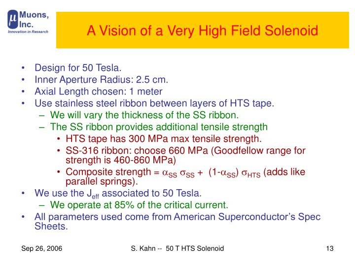 A Vision of a Very High Field Solenoid