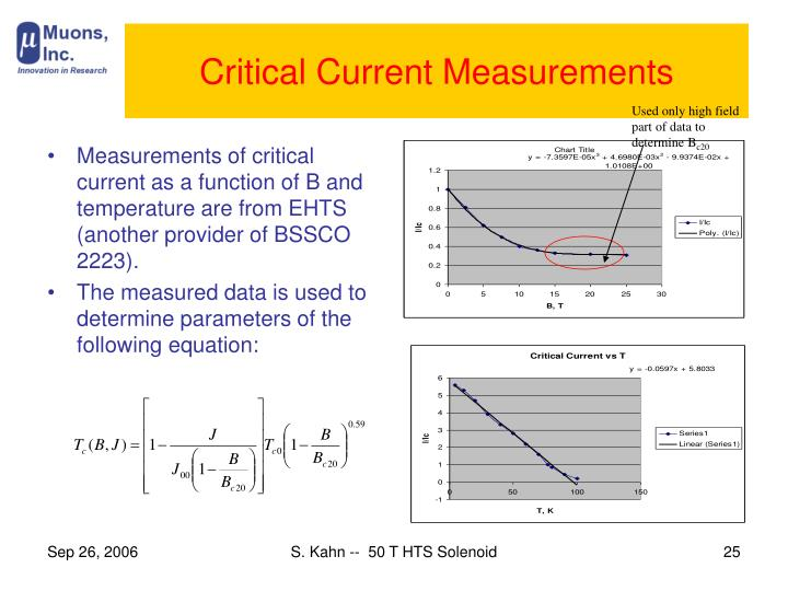 Critical Current Measurements