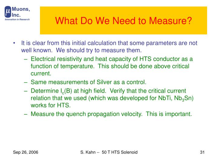 What Do We Need to Measure?