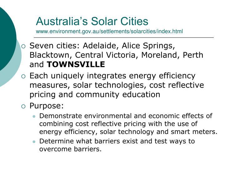 Australia's Solar Cities