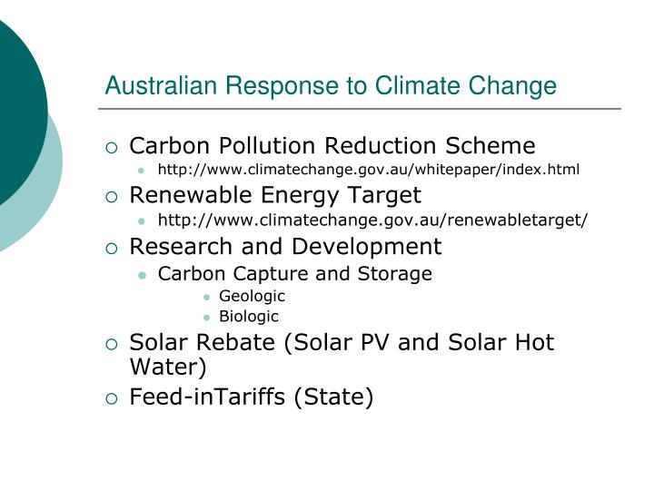 Australian Response to Climate Change