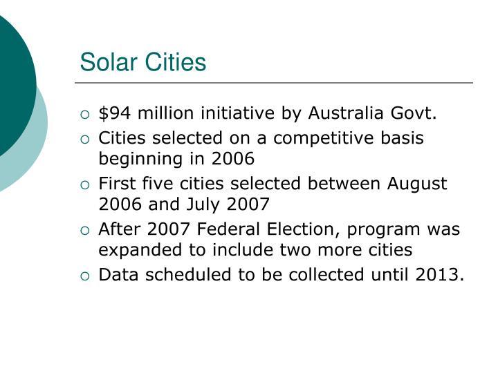 Solar Cities