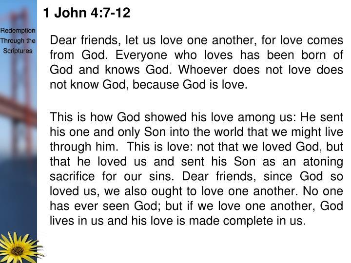 1 John 4:7-12
