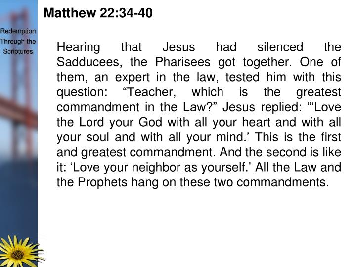 Matthew 22:34-40