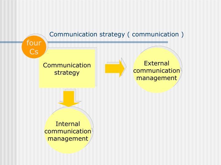 Communication strategy ( communication )