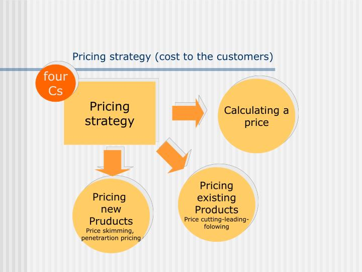 Pricing strategy (cost to the customers)