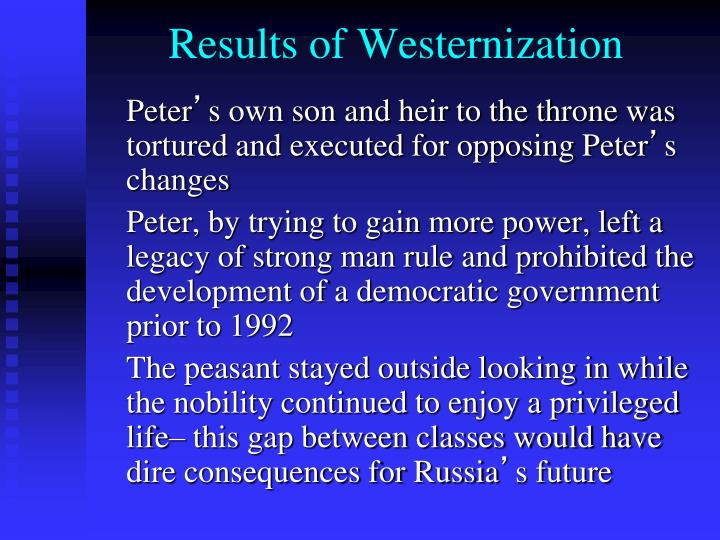 Results of Westernization