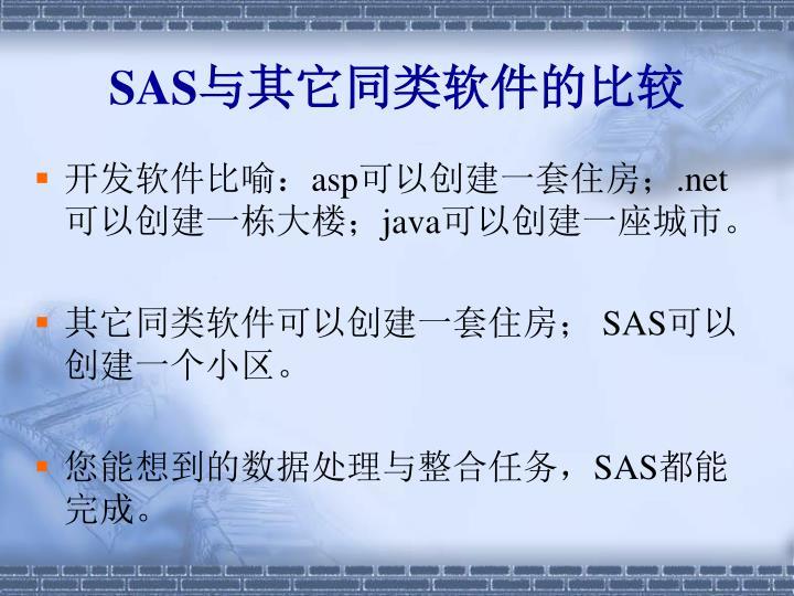 SAS与其它同类软件的比较