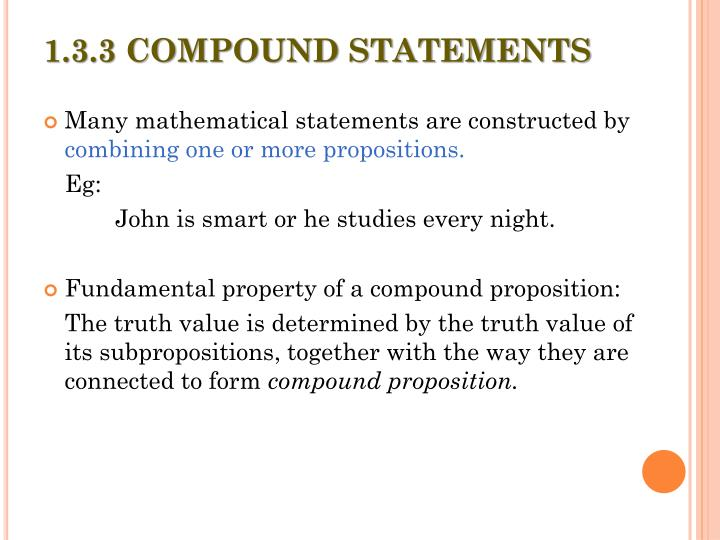 1.3.3 COMPOUND STATEMENTS