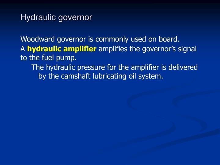 Hydraulic governor