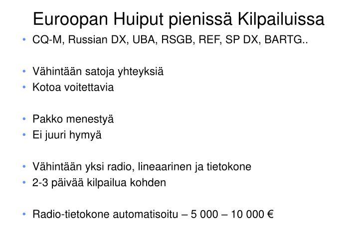 CQ-M, Russian DX, UBA, RSGB, REF, SP DX, BARTG..