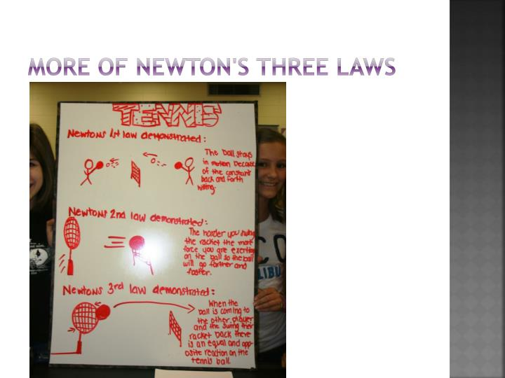 More of Newton's three laws