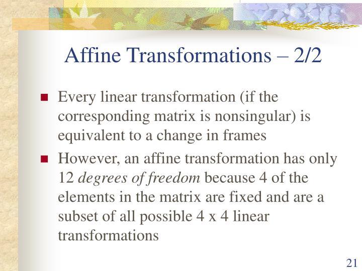 Affine Transformations – 2/2