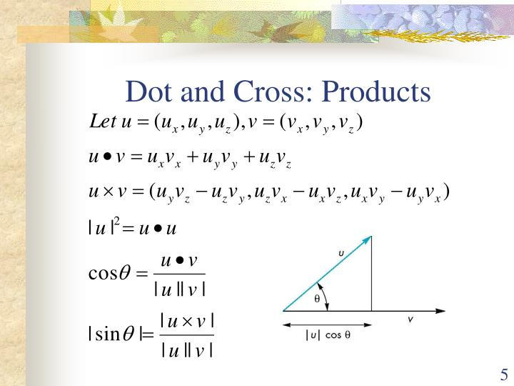 Dot and Cross: Products