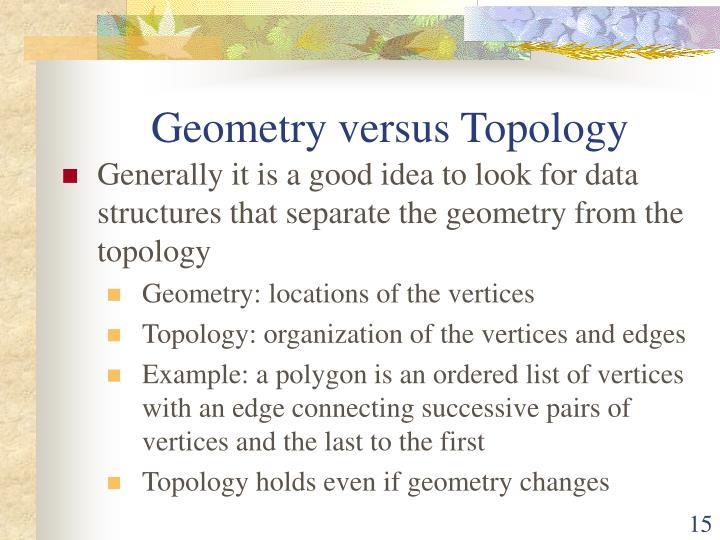 Geometry versus Topology