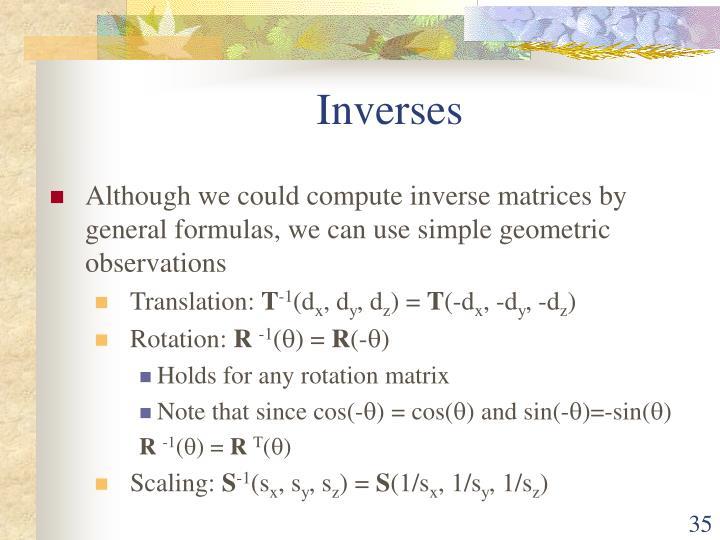 Inverses