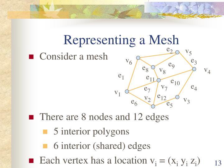 Representing a Mesh