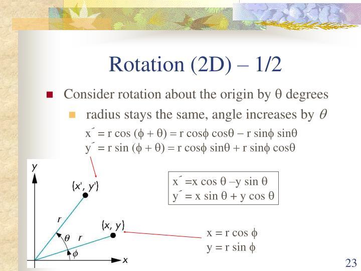 Rotation (2D) – 1/2