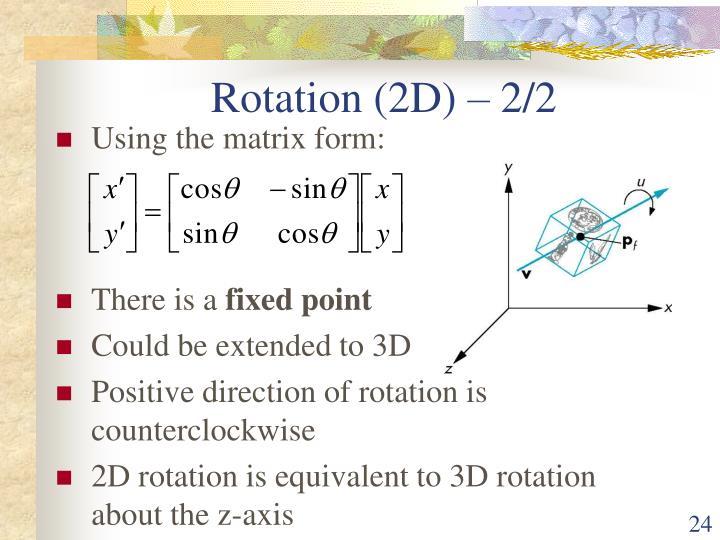 Rotation (2D) – 2/2