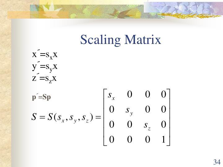 Scaling Matrix