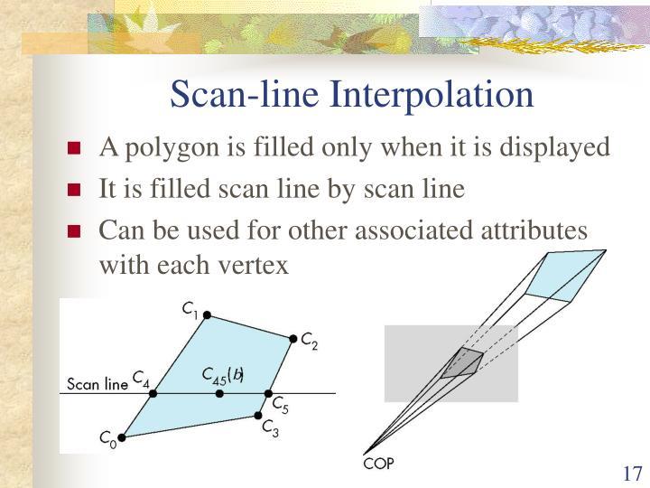 Scan-line Interpolation