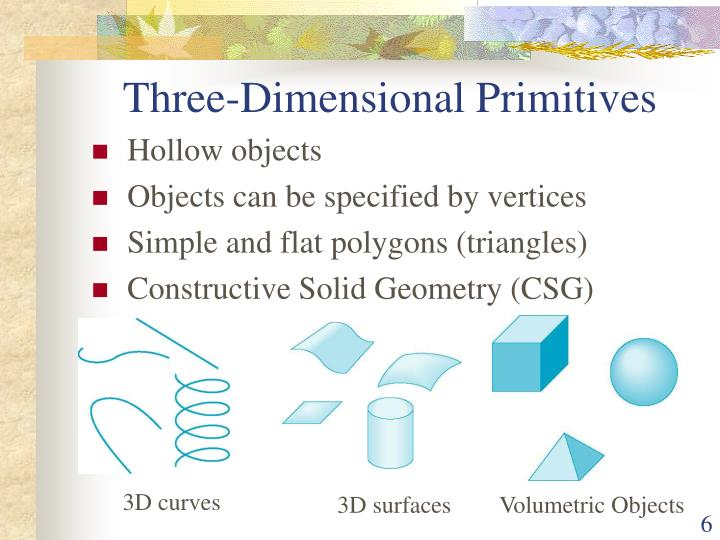 Three-Dimensional Primitives