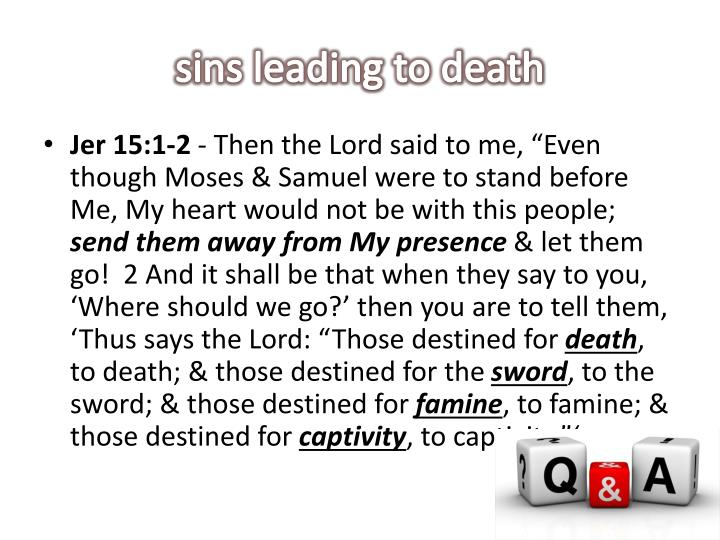 sins leading to death