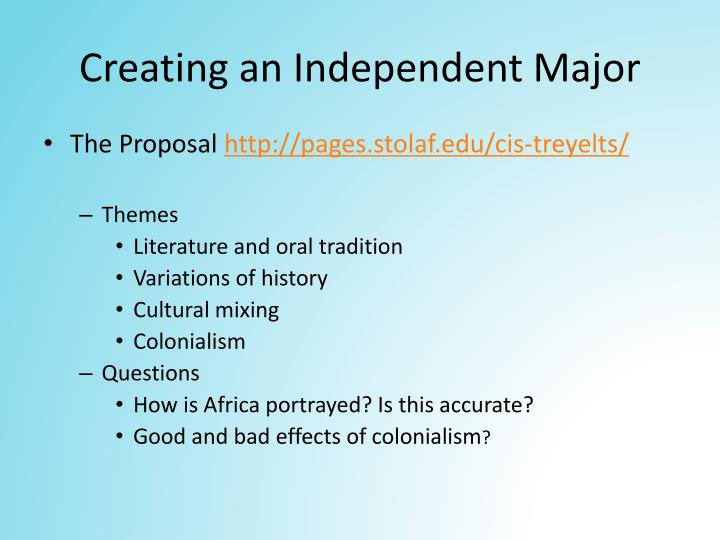 Creating an Independent Major