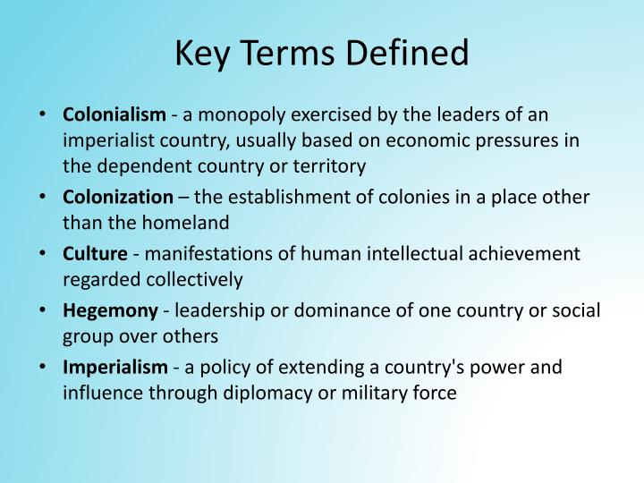 Key Terms Defined