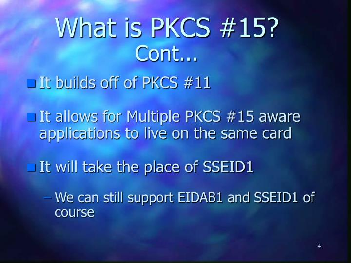 What is PKCS #15?