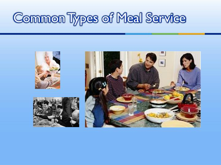 Common Types of Meal Service